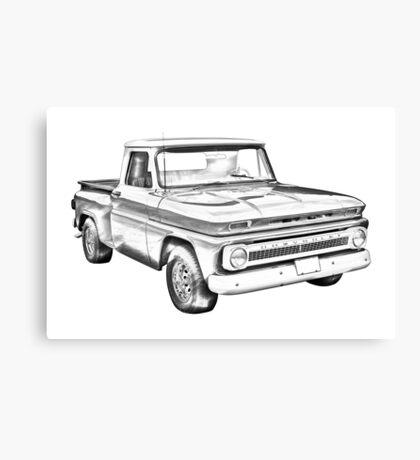 1965 Chevrolet Pickup Truck Illustration Canvas Print