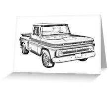1965 Chevrolet Pickup Truck Illustration Greeting Card