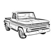 1965 Chevrolet Pickup Truck Illustration Photographic Print