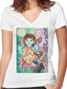 Fae Doll Women's Fitted V-Neck T-Shirt