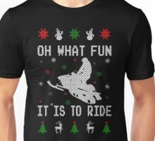 Snowmobile Ugly Christmas Tees Unisex T-Shirt