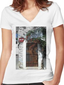 Location1 Women's Fitted V-Neck T-Shirt