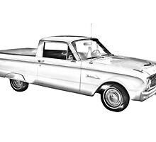 1962 Ford Falcon Pickup Truck Illustration by KWJphotoart
