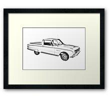 1962 Ford Falcon Pickup Truck Illustration Framed Print