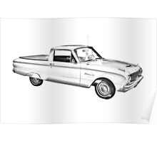1962 Ford Falcon Pickup Truck Illustration Poster