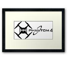 Phantom 4 DJI Drone black Framed Print