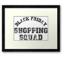 Black Friday Shopping Squad Framed Print