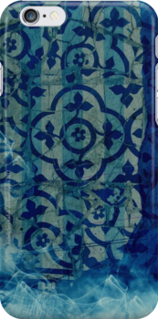 mosaic in cyan by frederic levy-hadida