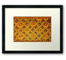 Medeaval pattern in Milan, Italy Framed Print
