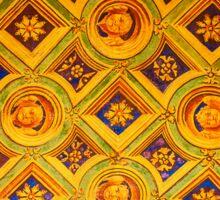 Medeaval pattern in Milan, Italy Sticker