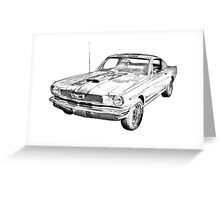 1966 Ford Mustang Fastback Illustration Greeting Card