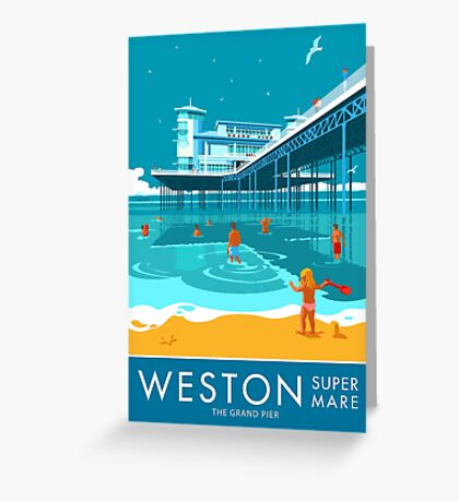 Weston super Mare, Grand Pier Greeting Card