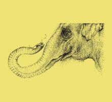 An elephant's faithful 100% by Inkspot One Piece - Short Sleeve