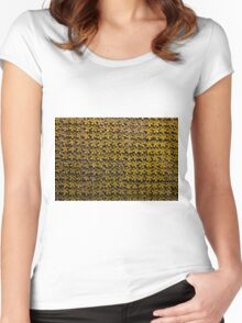 Floral metallic pattern design. Elegant decorative background. Women's Fitted Scoop T-Shirt