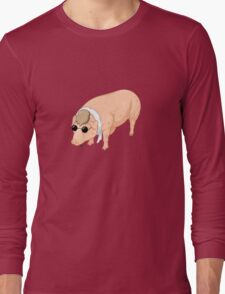 Porco Rosso Back To Home Long Sleeve T-Shirt