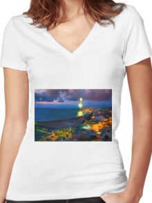 Invasion signal  Women's Fitted V-Neck T-Shirt