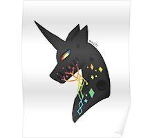 vincent the black unicorn Poster