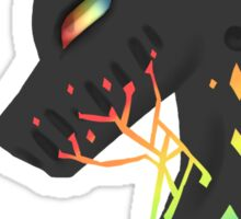 vincent the black unicorn Sticker