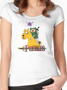 the legend of peebles Women's Fitted Scoop T-Shirt