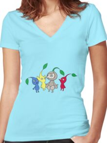 One of Us Women's Fitted V-Neck T-Shirt