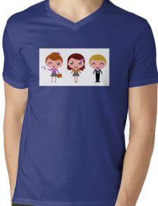 Cute Kids school artistic Characters : New edition 2016 Mens V-Neck T-Shirt