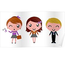 Cute Kids school artistic Characters : New edition 2016 Poster