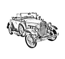 1931 Ford Model A Cabriolet Illustration Photographic Print