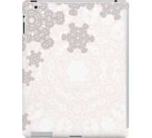 Rose Quartz abstract winter design with fractal snowflakes iPad Case/Skin