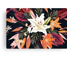 Beautiful vintage floral art edition : purple, white Hawaii edition 2016 Canvas Print