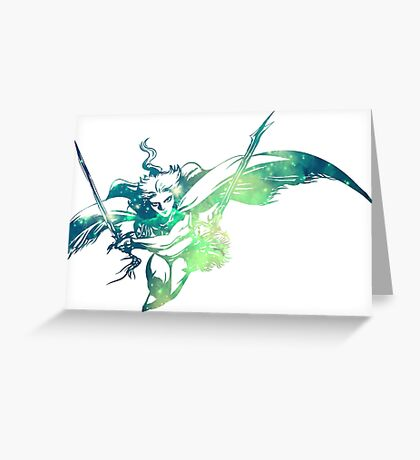 °FINAL FANTASY° Final Fantasy III Space Logo Greeting Card