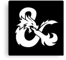 DND White Logo Canvas Print