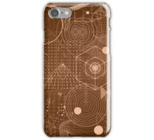 Geometry Symbol Science Brown iPhone Case/Skin