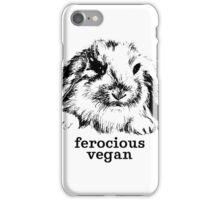 Ferocious vegan iPhone Case/Skin