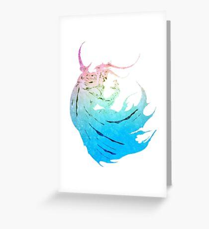°FINAL FANTASY° Final Fantasy IV Rainbow Logo Greeting Card