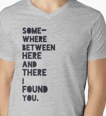 Here and There Mens V-Neck T-Shirt