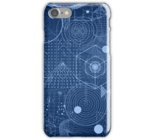 Geometry Symbol Science Blue iPhone Case/Skin