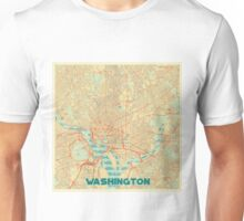 Washington Map Retro Unisex T-Shirt