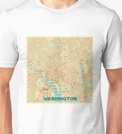 Washington Map Retro Unisex T-Shirt