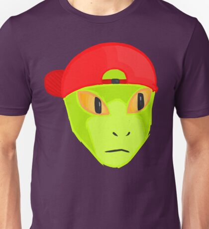 Alien Wearing Cap Tshirt Design Unisex T-Shirt