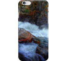 Banded Rock at Livermore Falls iPhone Case/Skin