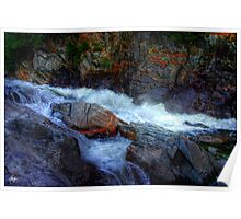 Banded Rock at Livermore Falls Poster