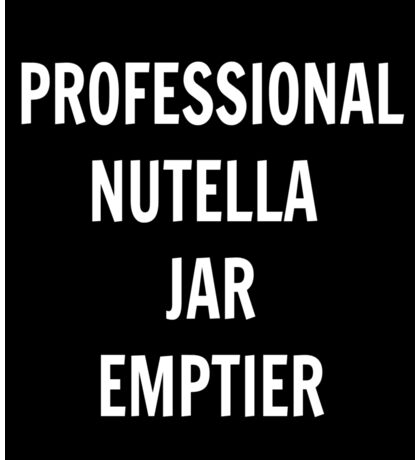 Professional Nutella Jar Emptier Sticker
