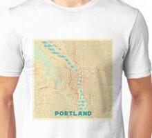 Portland Map Retro Unisex T-Shirt