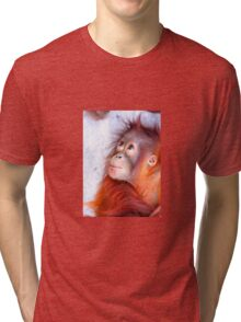 Red faced.  Tri-blend T-Shirt