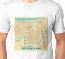 New Orleans Map Retro Unisex T-Shirt