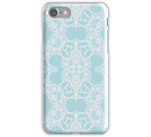 Abstract blue Arabesque ornament iPhone Case/Skin
