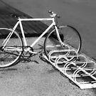 Black and white bike. by Paul Pasco