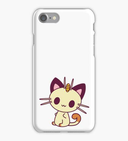 Kawaii Chibi Meowth Cat iPhone Case/Skin