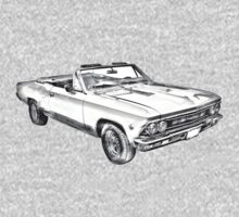 1966 Chevrolet Chevelle 283 Illustration One Piece - Long Sleeve