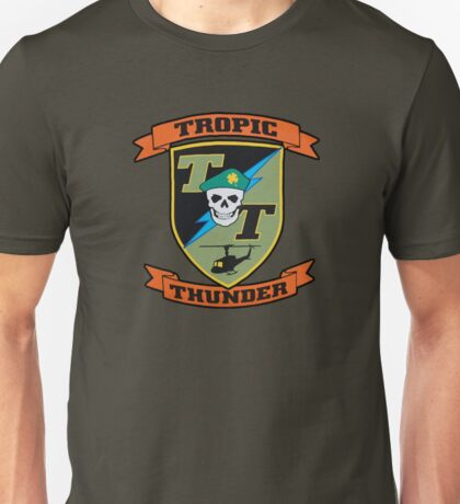 TROPIC THUNDER PATCH Unisex T-Shirt